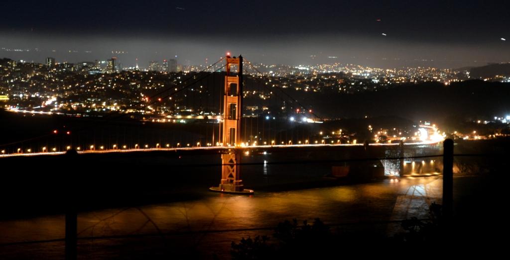 Looking back at San Francisco from Marin City