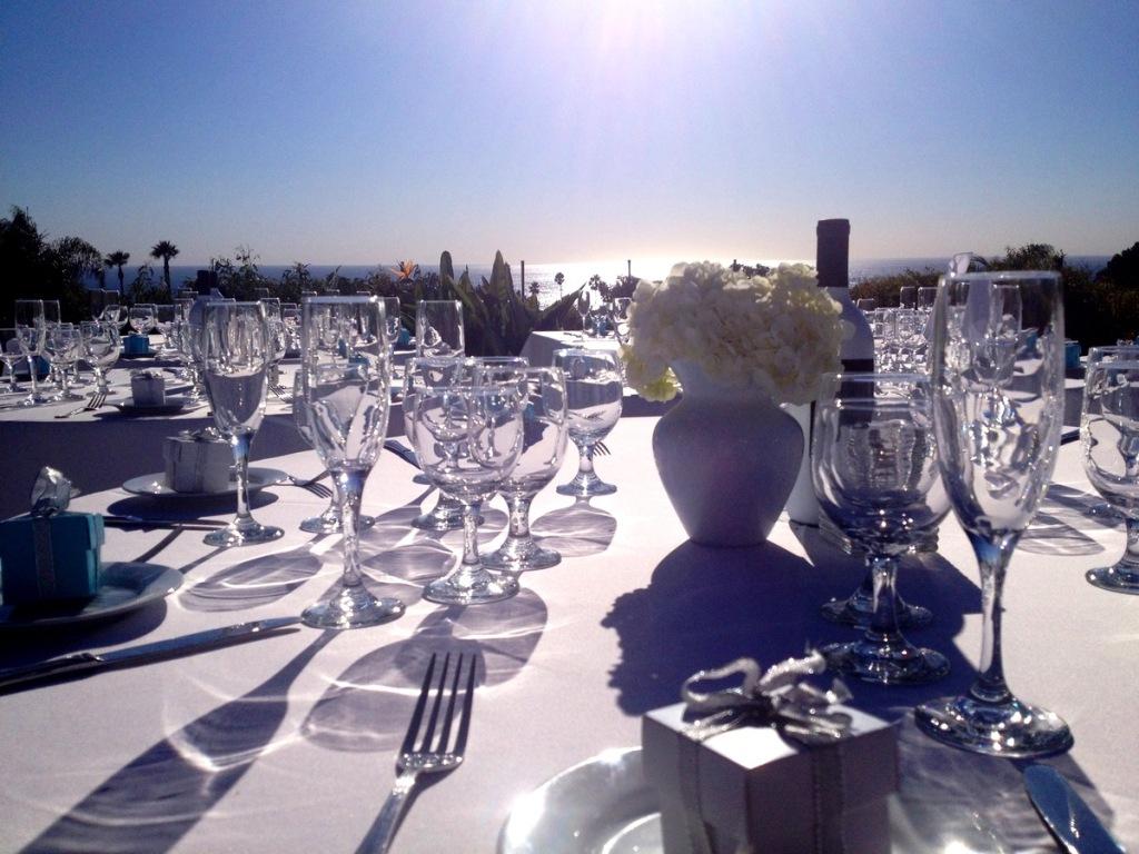 Wedding reception. Malibu, California