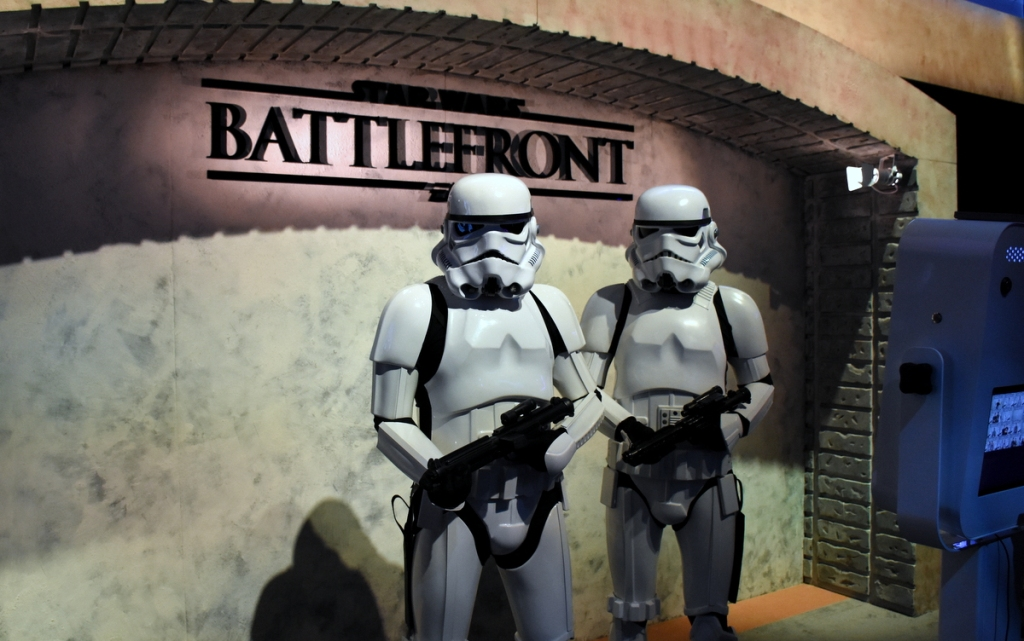 Imperial Stormtroopers allowed you to take a photo with them if you joined the dark side.