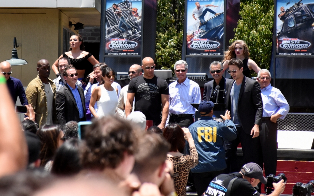 Some of the cast, filmmakers and studio executives introduce the new ride.
