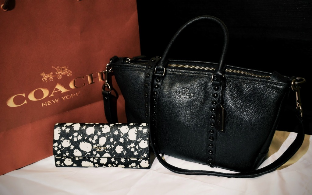 Coach Central Satchel and Floral Soft Wallet